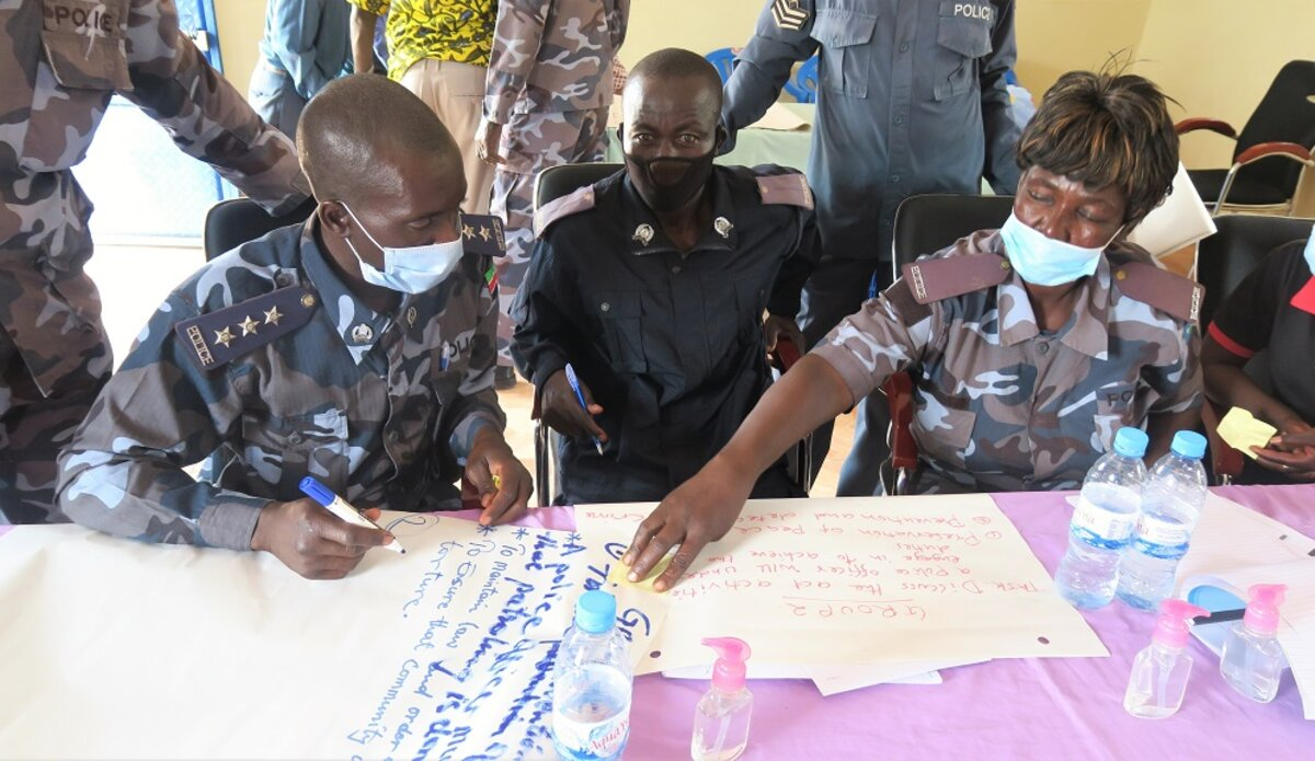 unmiss south sudan yambio western equatoria state unpol ssnps workshop trust confidence protection of civilians community policing