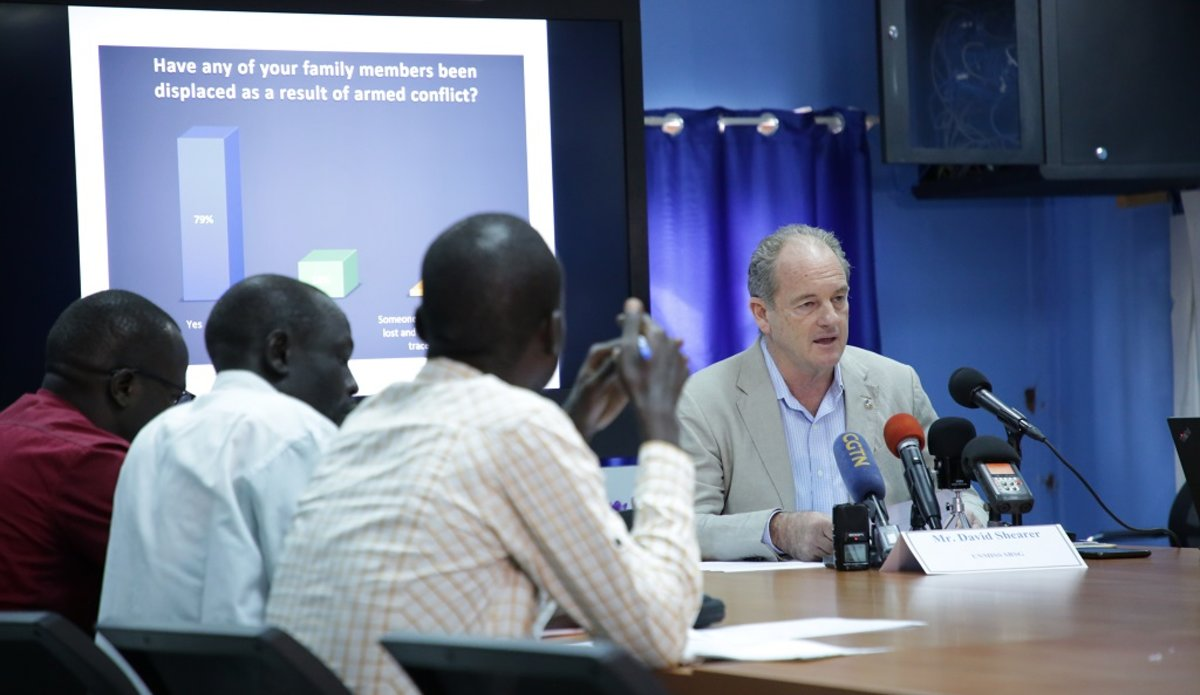 unmiss south sudan srsg david shearer results of perception survey press conference 15 may 2019