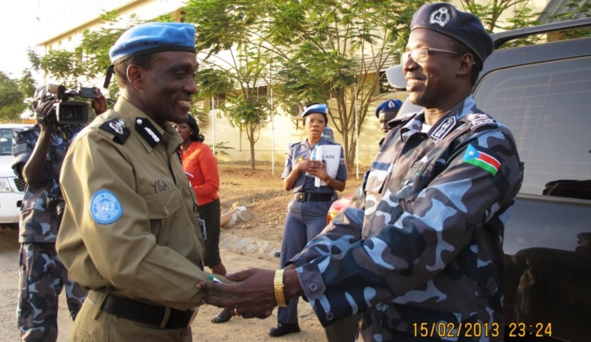 New South Sudan Police Chief Meets Unmiss Police