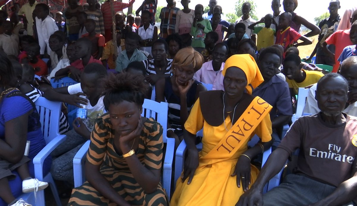 South Sudanese attending the New Year Peace Prayer in Bor