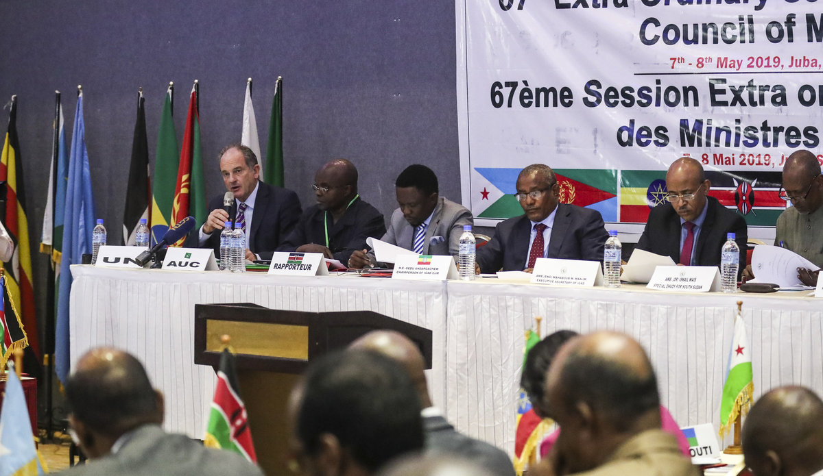 south sudan unmiss igad council of ministers pre-transitional period six months extension troika juba