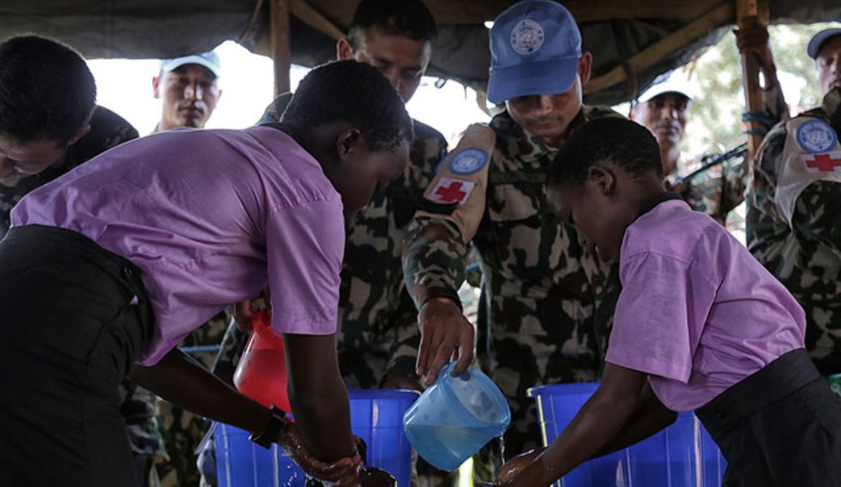 Unmiss Peacekeepers Support Local Nursery And Primary School In Juba