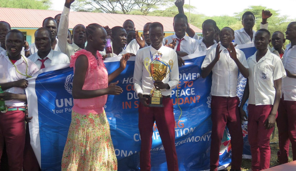 Regional essay winner from Eastern Equatoria commits to being an agent of peace