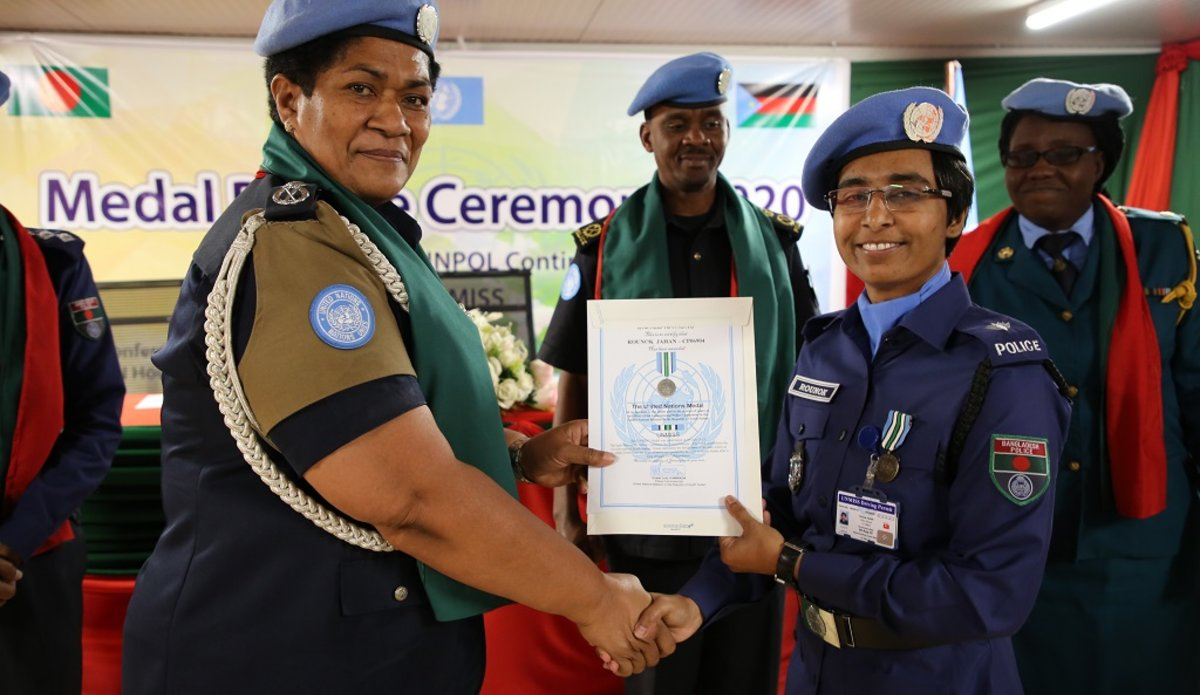 unmiss south sudan rounok jahan bangladesh unpol protection of civilians gender