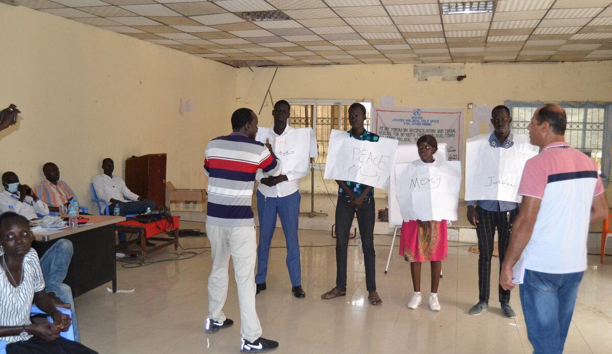 youth peace security trauma civil war peaceful coexistence peace south sudan malakal unmiss peacekeeping united nations civil affairs
