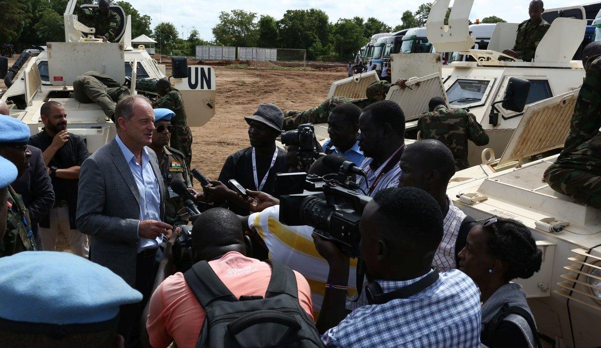 SRSG Shearer - Regional protection Force - Press Conference (near verbatim)