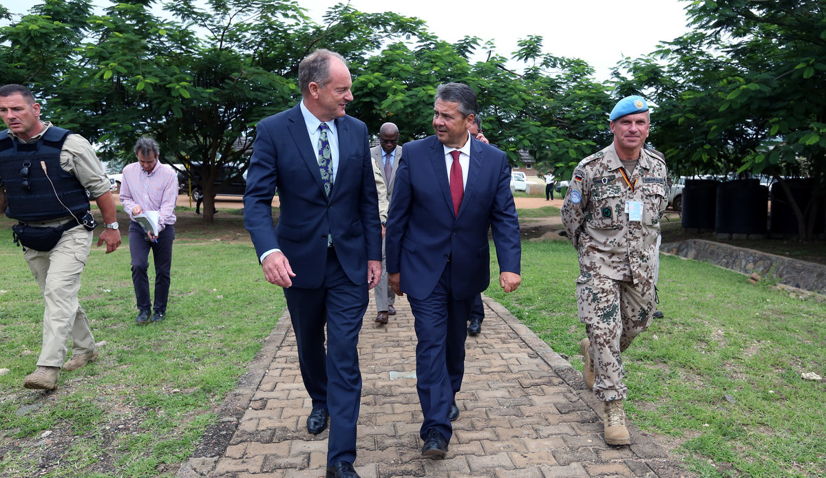 German Foreign Affairs Minister Visits UN Base in South Sudan