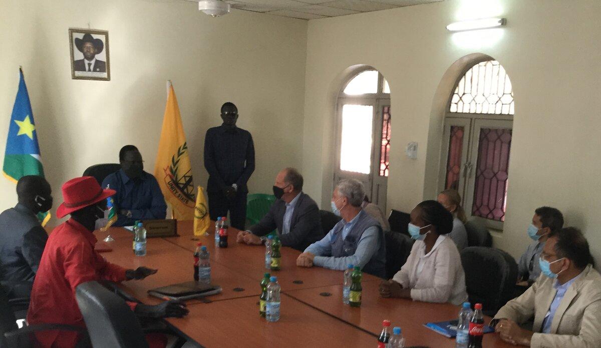 UNMISS UNHCR returnees voluntary returns David Shearer South Sudan peace process Protection of Civilians displaced people Filippo Grandi refugees IDPs Bentiu