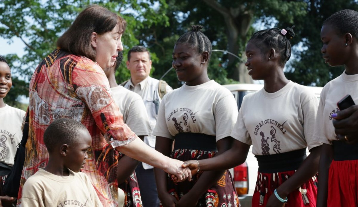 unmiss south sudan yambio protection of civilians unicef virginia gamba srsg children in armed conflict released child soldiers reintegration vocational skills education