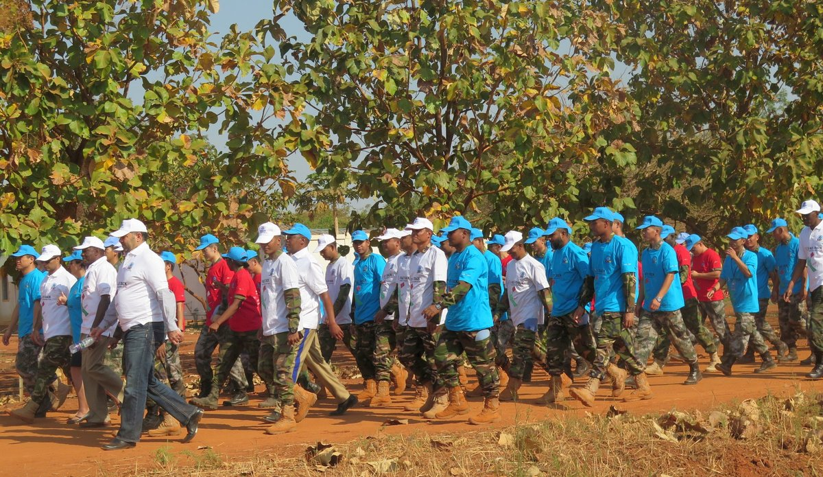 UN peacekeepers and health partners step up efforts to fight against the spread of HIV/AIDS
