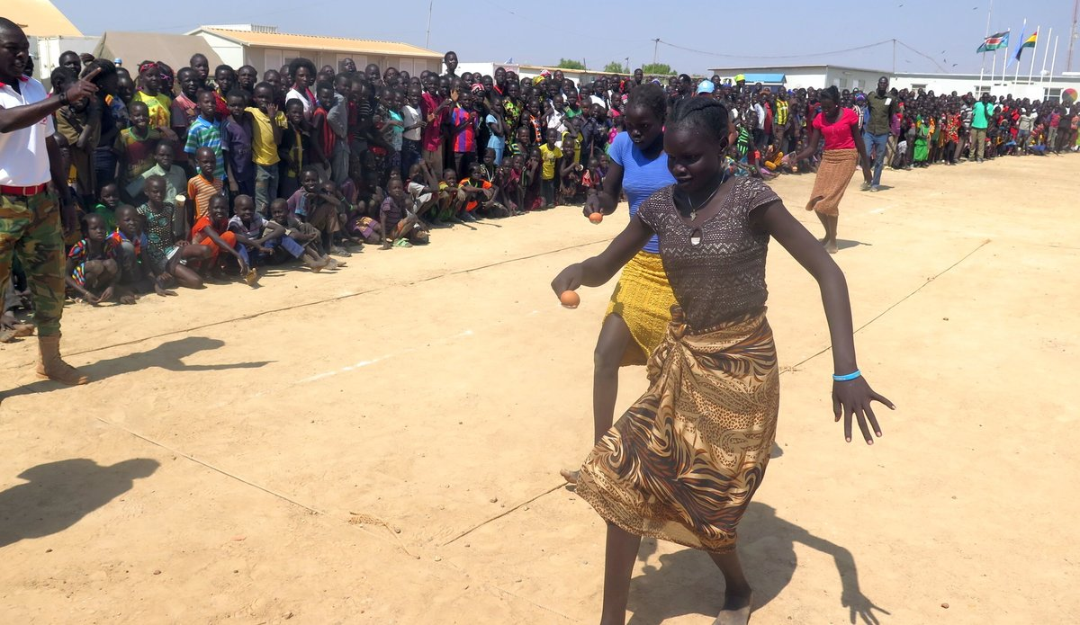 UN peacekeepers organized fun-day for displaced children in Bentiu