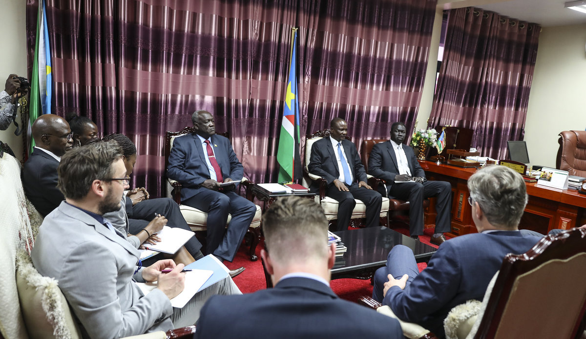 Visiting UN Peacekeeping chief calls for immediate cessation of hostilities South Sudan UNMISS