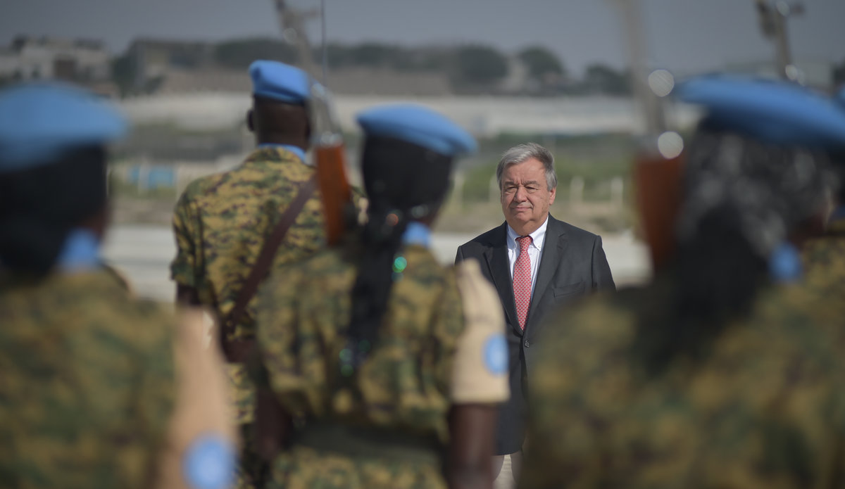 "UN Secretary-General António Guterres says peace in South Sudan is ""a must"""