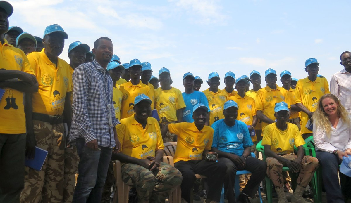 "UNMISS ""children not soldiers"" campaign encourages South Sudan army to protect children in Pibor"