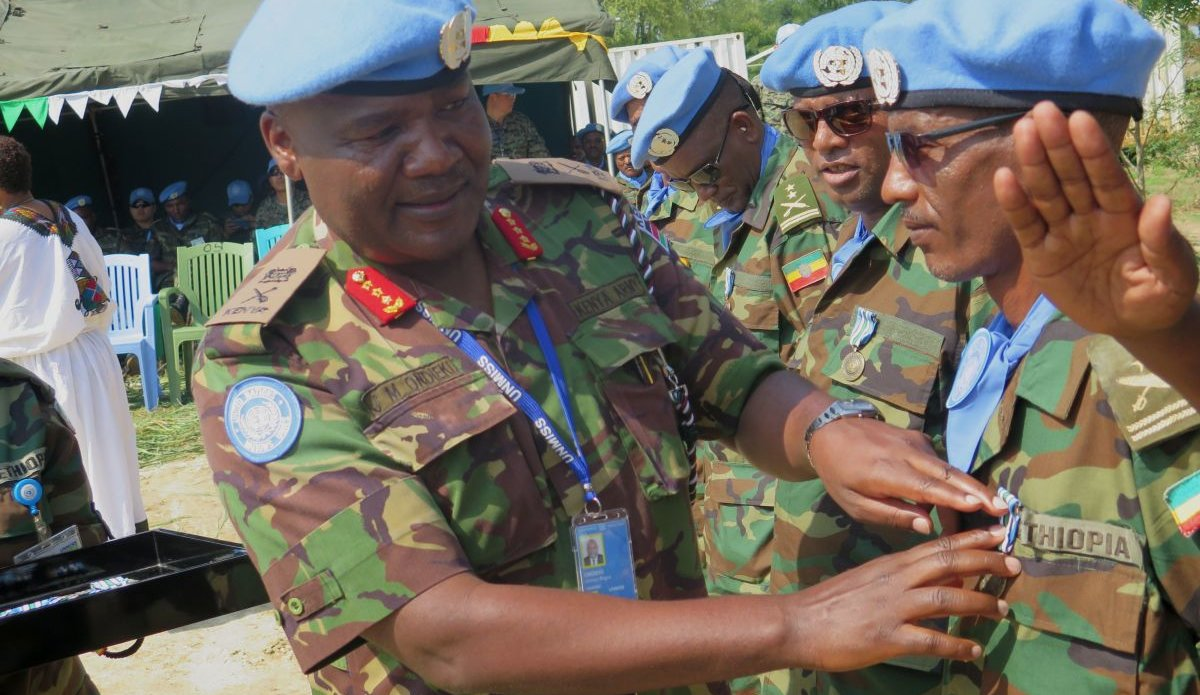 UNMISS Force Commander attends Ethiopian medal ceremony in Bor