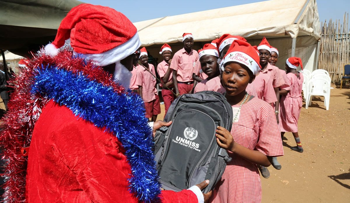 "UNMISS Juba celebrates Christmas at St. Thomas Primary School with ""special guest from the East"""