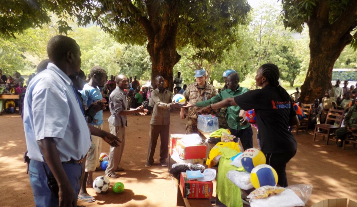 UNMISS promotes peace through sports in schools in Katire Payam