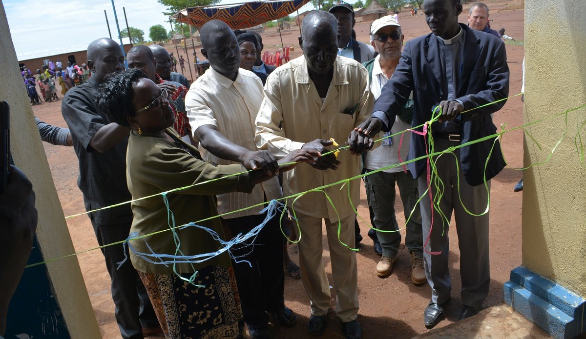 UNMISS QIP renovated a primary school in Wau
