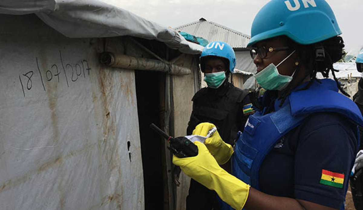 """UN camp residents in South Sudan """"trust more"""" when searches are conducted by women"""
