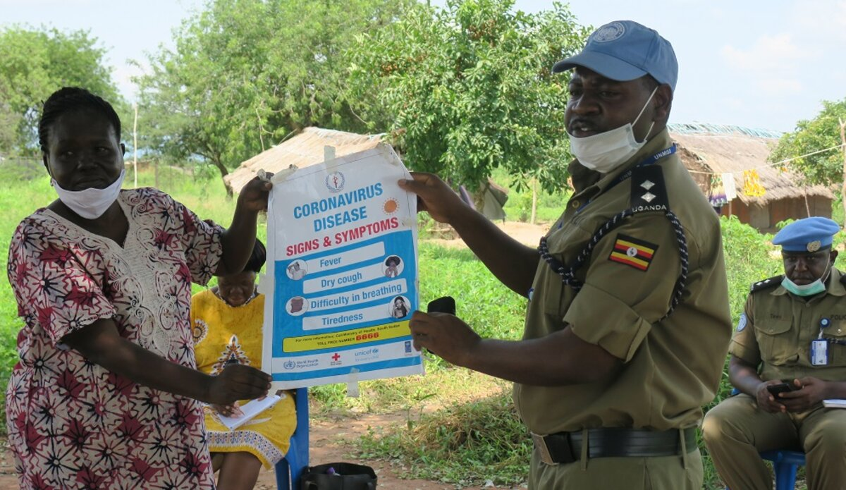 United Nations in Torit launches COVID-19 campaign to protect community policing members
