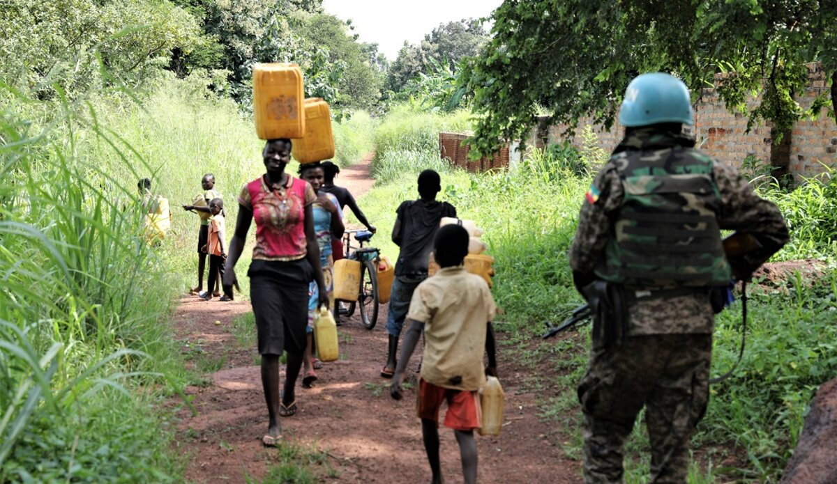 unmiss south sudan western equatoria state tambura idps protection of civilians peacekeepers escort fetching water reduced violence
