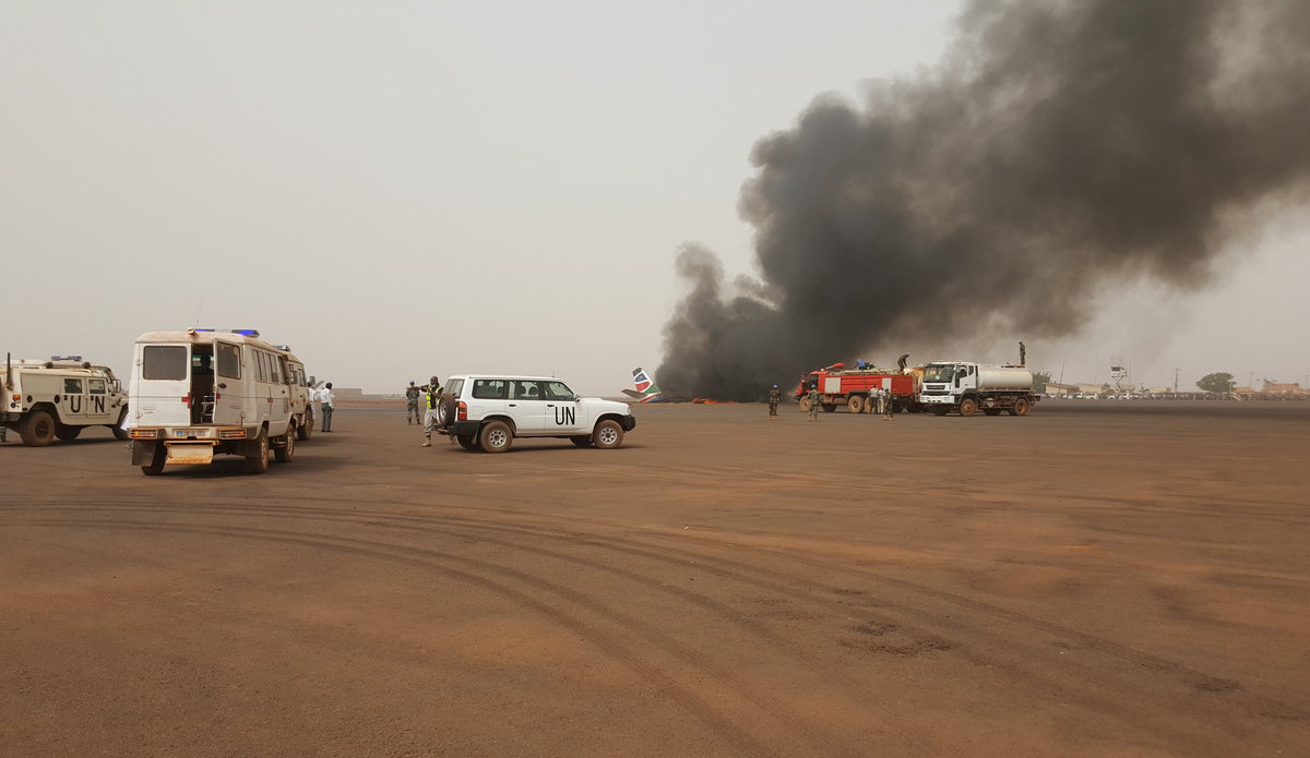 Press release: UNMISS Peacekeepers praised for plane crash rescue in Wau South Sudan