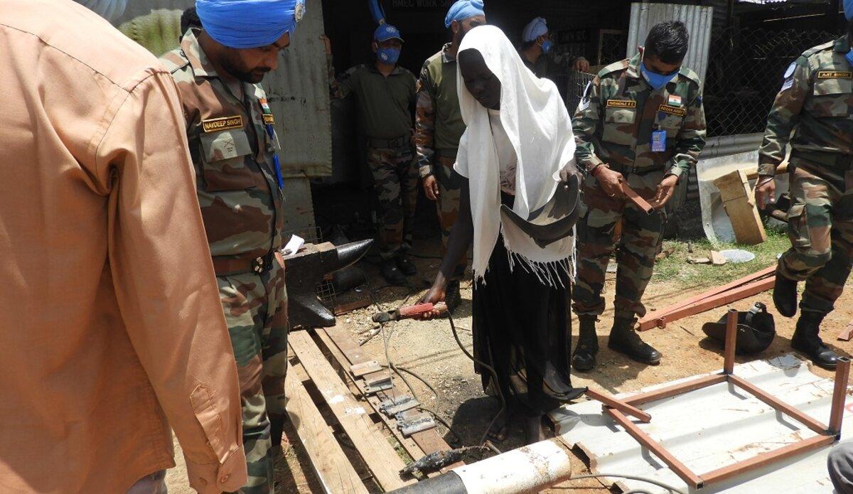 unmiss south sudan malakal youth vocational training masonry carpentry welding protection of civilians skills future