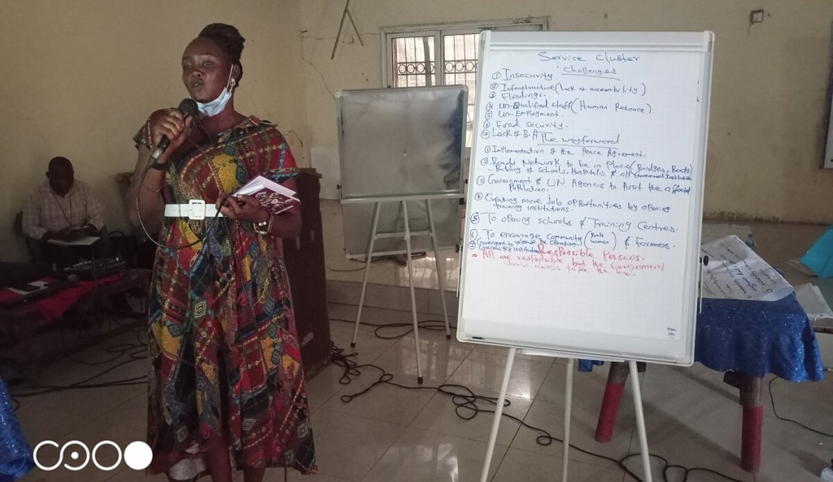 unmiss south sudan upper nile state malakal governor forum stakeholders accountability good governance service delivery female political representation