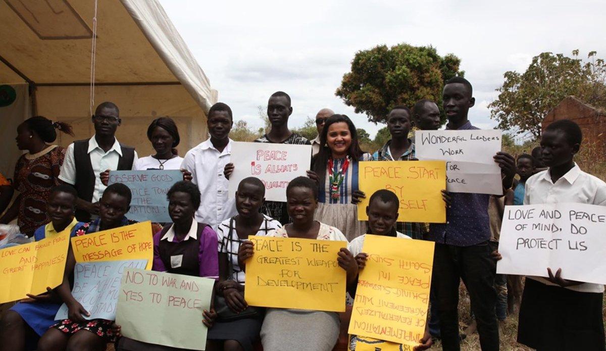 south sudan unmiss un youth envoy torit peace education vocational training employment skills