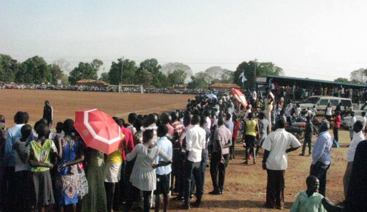 South Sudan UNMISS protection of civilians Yei durable peace football