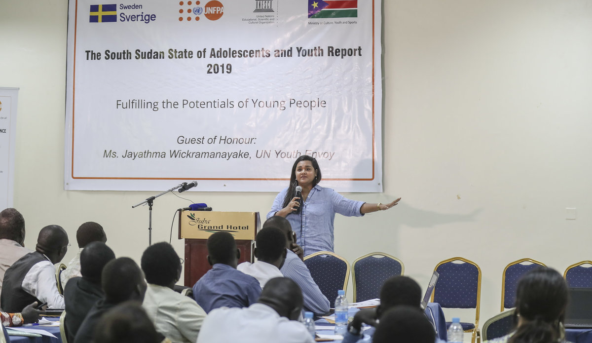 unmiss south sudan un youth envoy state of the youth report education employment cultural practices gender-based violence gender inequality child marriages