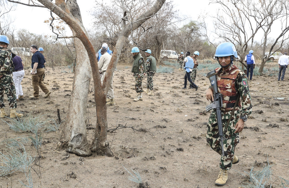 A convoy of United Nations Mission in South Sudan, Protection Forces (UNMISS) and Ceasefire Transitional Security Arrangement Monitoring Mechanism (CTSAMM) visited the incident scene on March 28, 2017 where six aid workers killed Saturday.