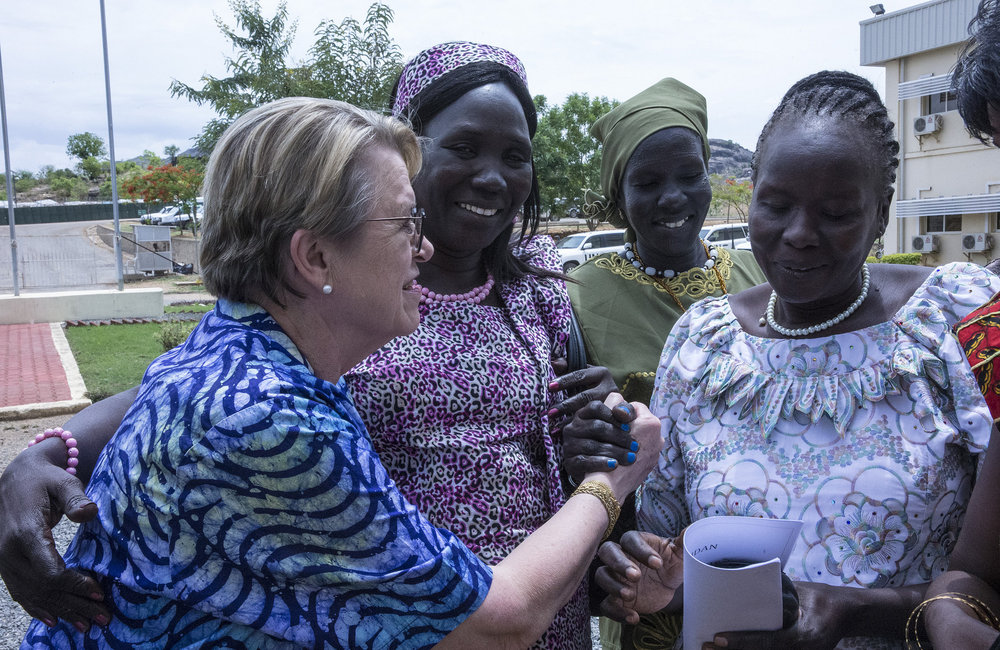 South Sudanese women representatives meet with UNMISS SRSG
