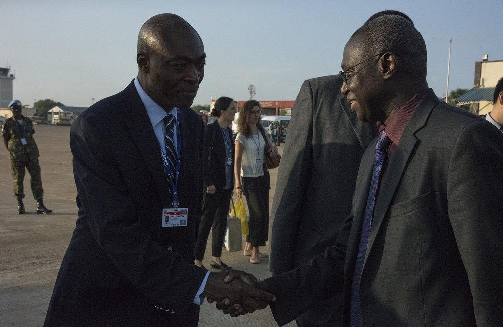 The tour concludes; UN Security Council delegation departs South Sudan