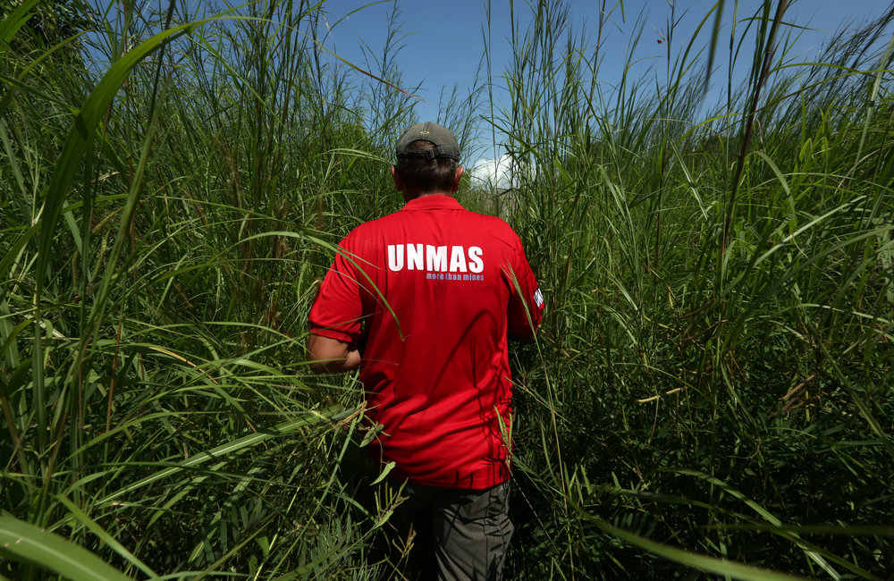 UNMAS commence BAC (battle area clearance) operation along perimeter of PoC site 1