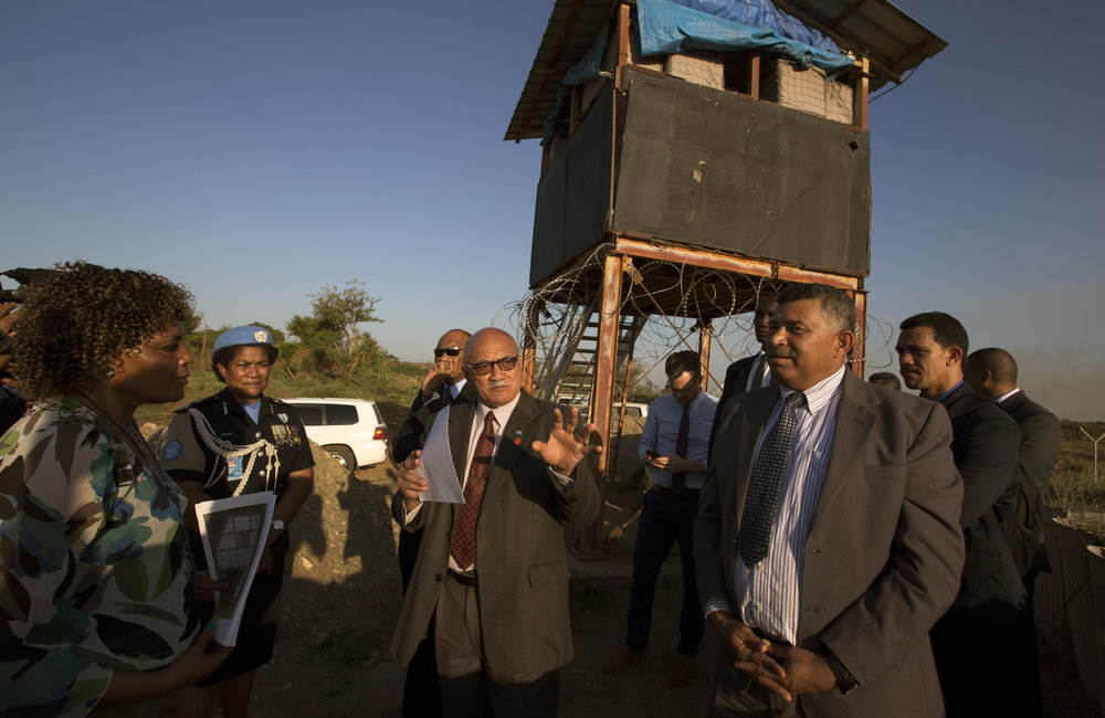 Fijian President Konrote visits UNMISS SRSG and PoC site 3