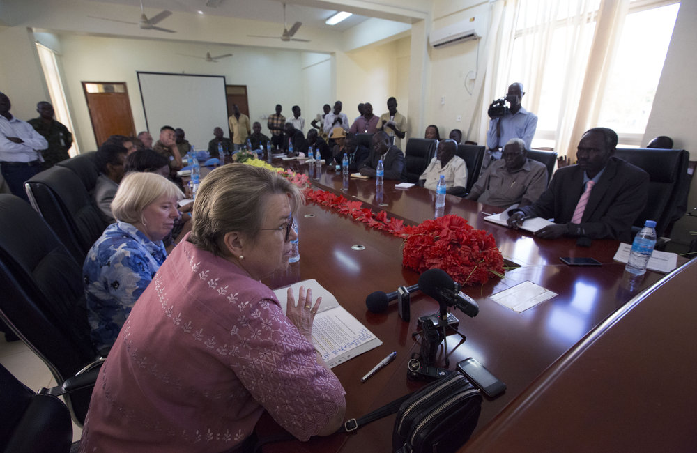 UNMISS SRSG discusses peace process and way forward for the country in Torit