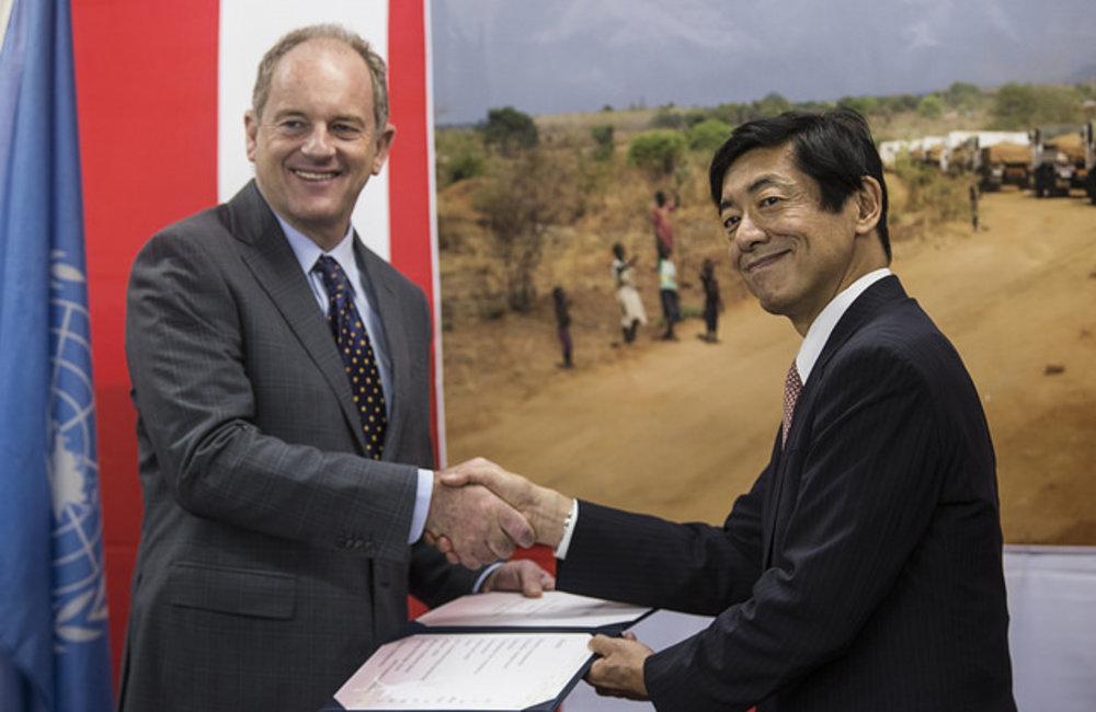 Handing Over Ceremony at JPN HMEC camp