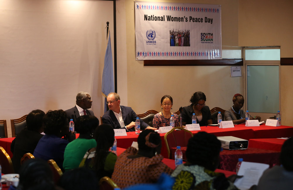 UNMISS SRSG, David Shearer closes the mission led National Women's Open Days three day dialogue forum centered on the theme of women's role in peace and security in South Sudan.