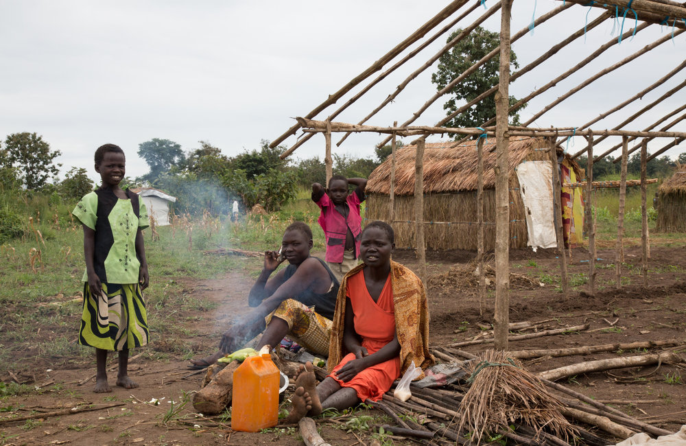 IDP's in Yei move from old UNMISS base to newly allocated land