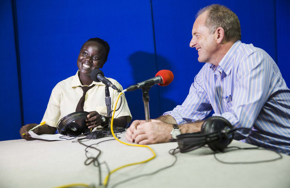 Students visit UN radio on International Day of the African Child