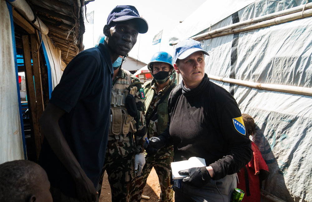 UNMISS UNPOL PoC site 3 Weapons Search Operation