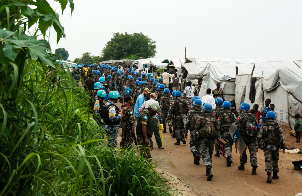 UNMISS Police and Military sections in coordination with UN Mine Action Service (UNMAS) and UN Department of Safety and Security (UNDSS) conducted an integrated search operation at the PoC site #1