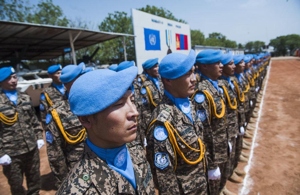 Mongolian Peacekeepers, MONBATT VI, awarded medal for outstanding service in Bentiu