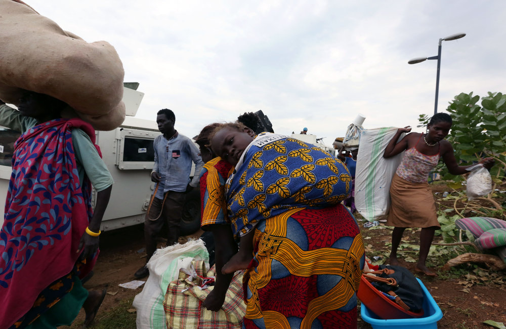 Juba clashes subside, IDP's are relocated from UN base to PoC sites and villages