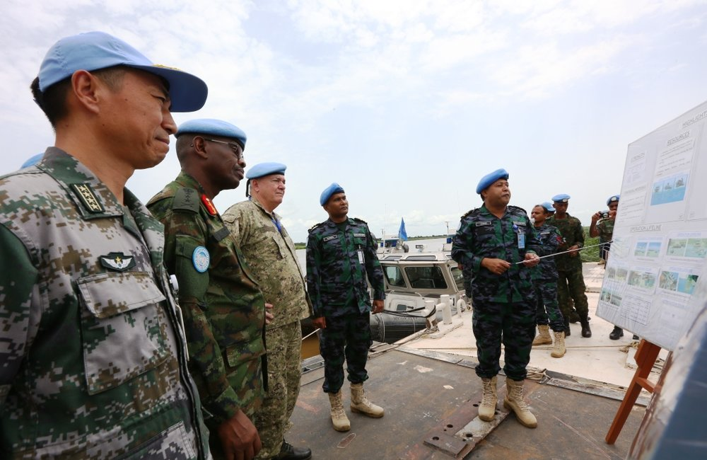 Military Adviser to USG Peacekeeping Operations Lt. Gen. Loitey visits UNMISS Malakal office