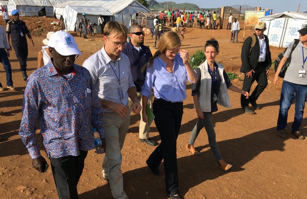 UN Security Council delegation tours PoC sites 1 and 3