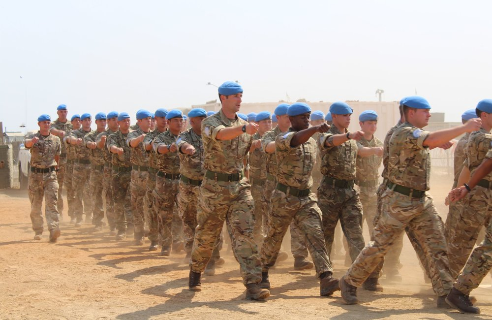 UK engineering contingent receive UN Medal for service in South Sudan