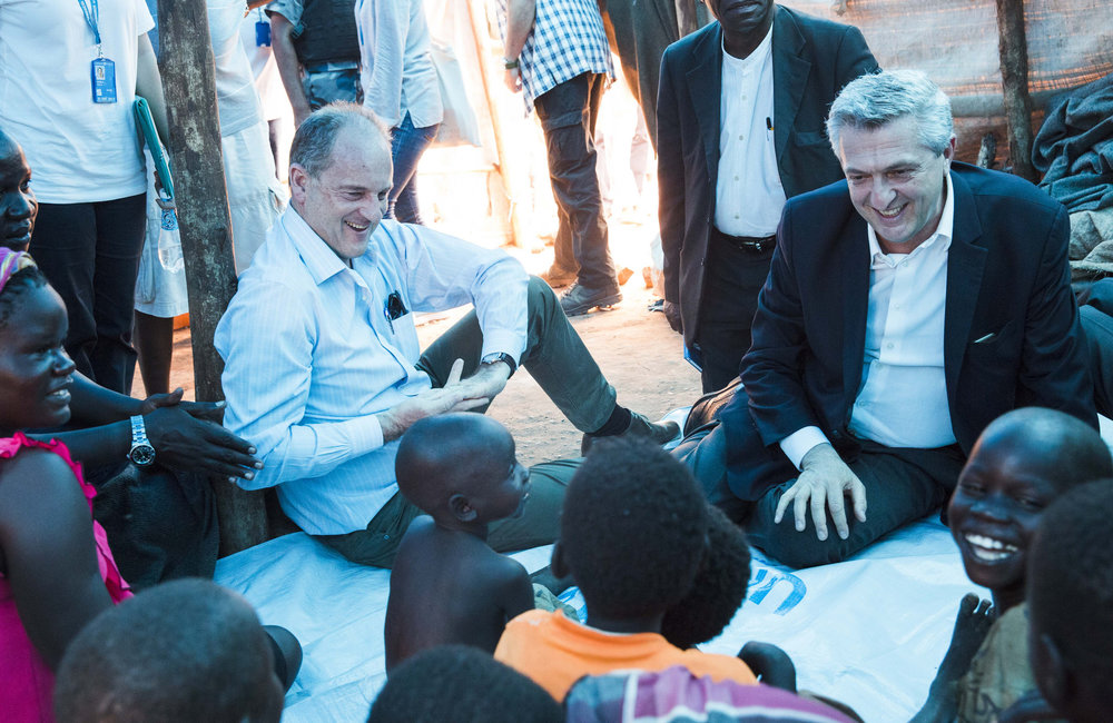SRSG Shearer and UNHCR Grandi visited UNMISS PoC site in Juba ahead of World Refugee Day on June 20