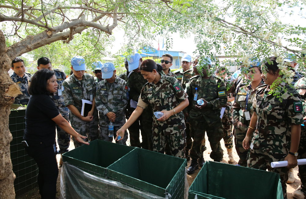 UNMISS World Environment Day 2017 NepBatt takes on composting to lower their carbon footprint